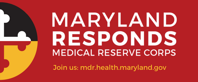 Image of Maryland Responds logo with call to Join us by registering at mdr.health.maryland.gov
