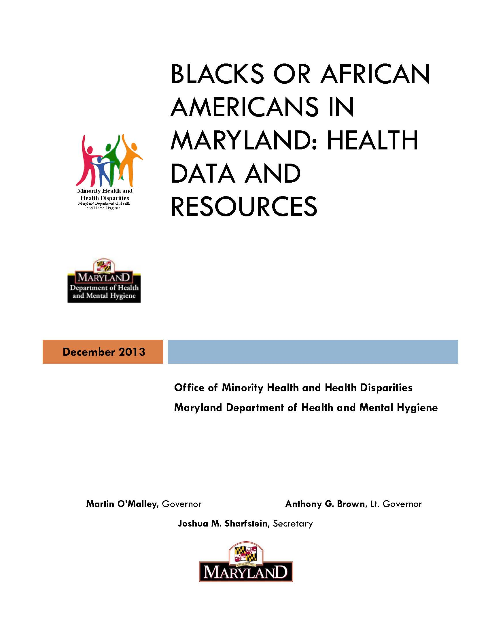 Maryland Black or African American Data Report December 2013 Cover Page.jpg