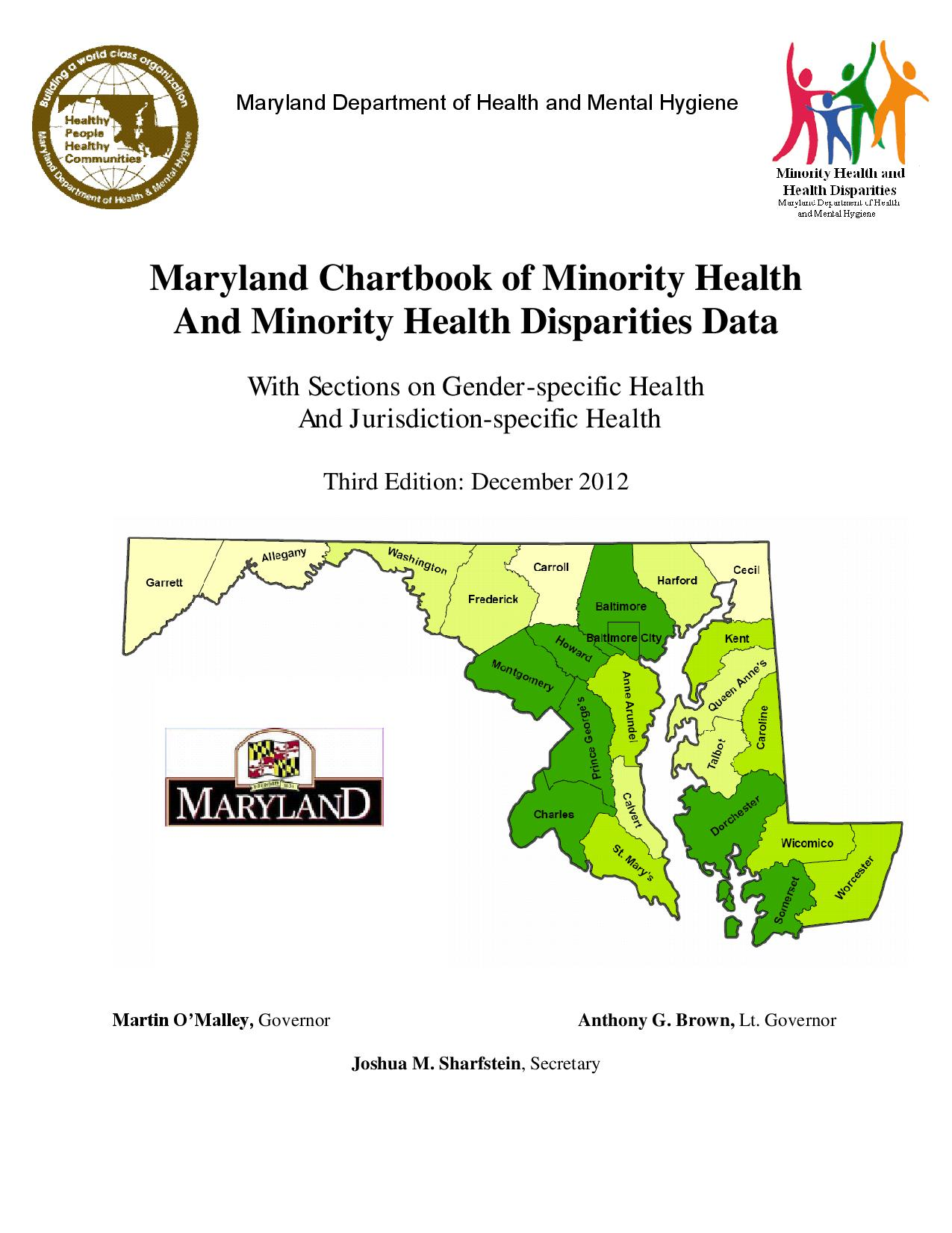 Maryland Chartbook of Minority Health and Minority Health Disparities Data, Third Edition (December 2012)-page-001.jpg