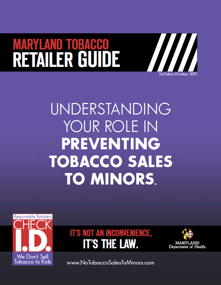 Image of Maryland Tobacco Retailer Guide