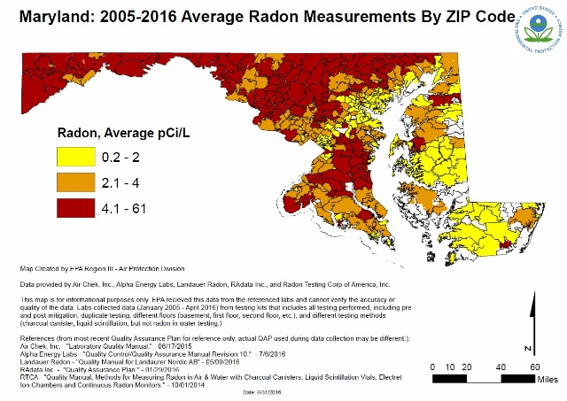 Radon - Radon us map