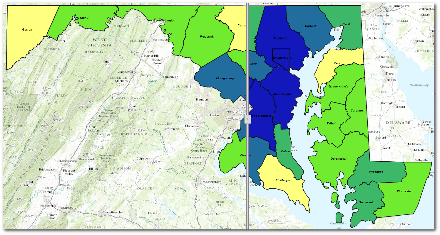 Lead Zip Code Map Montgomery County Md on