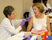 Deputy Secretary Fran Phillips Gets Vaccinated at Baltimore City Flu Vaccine Clinic