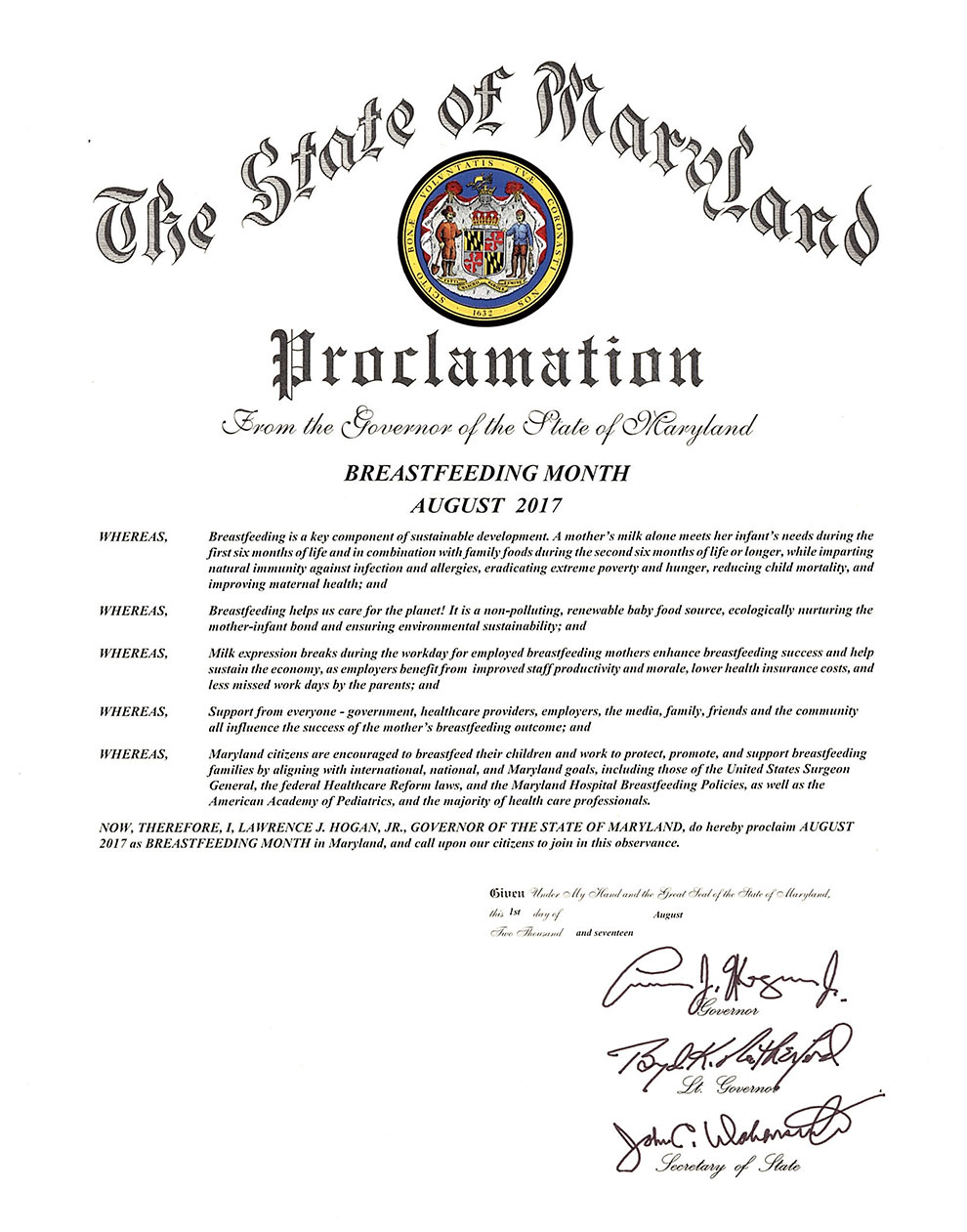 Breastfeeding services breastfeeding month proclamation 1betcityfo Images