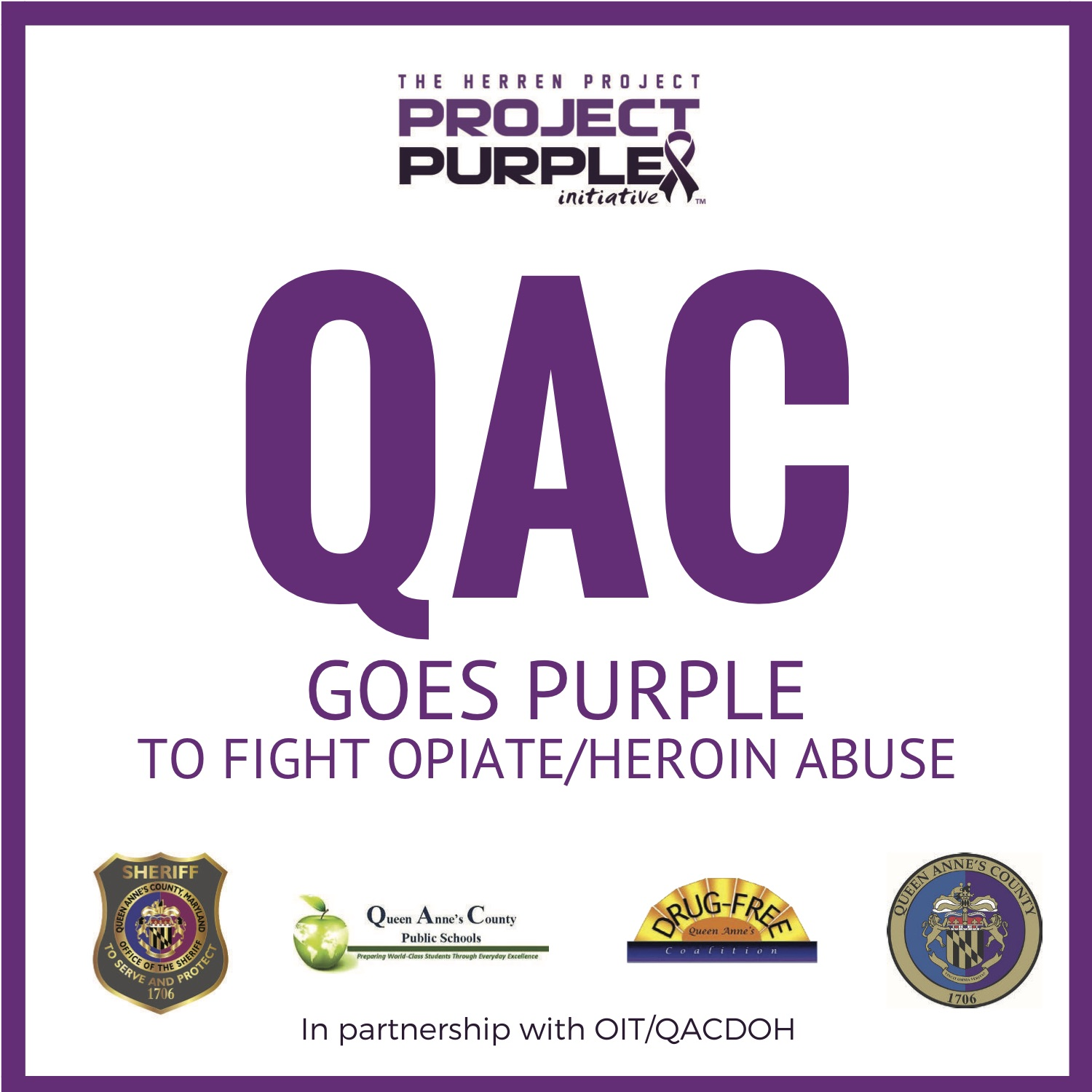 QAC Goes Purple Logo