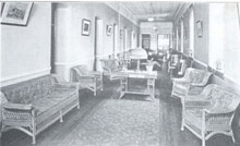 Main Building Hall -- Showing Wicker Furniture Manufactured at Spring Grove