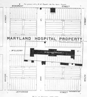 A Plan to Subdivide the MD Hospital Property. c. 1868